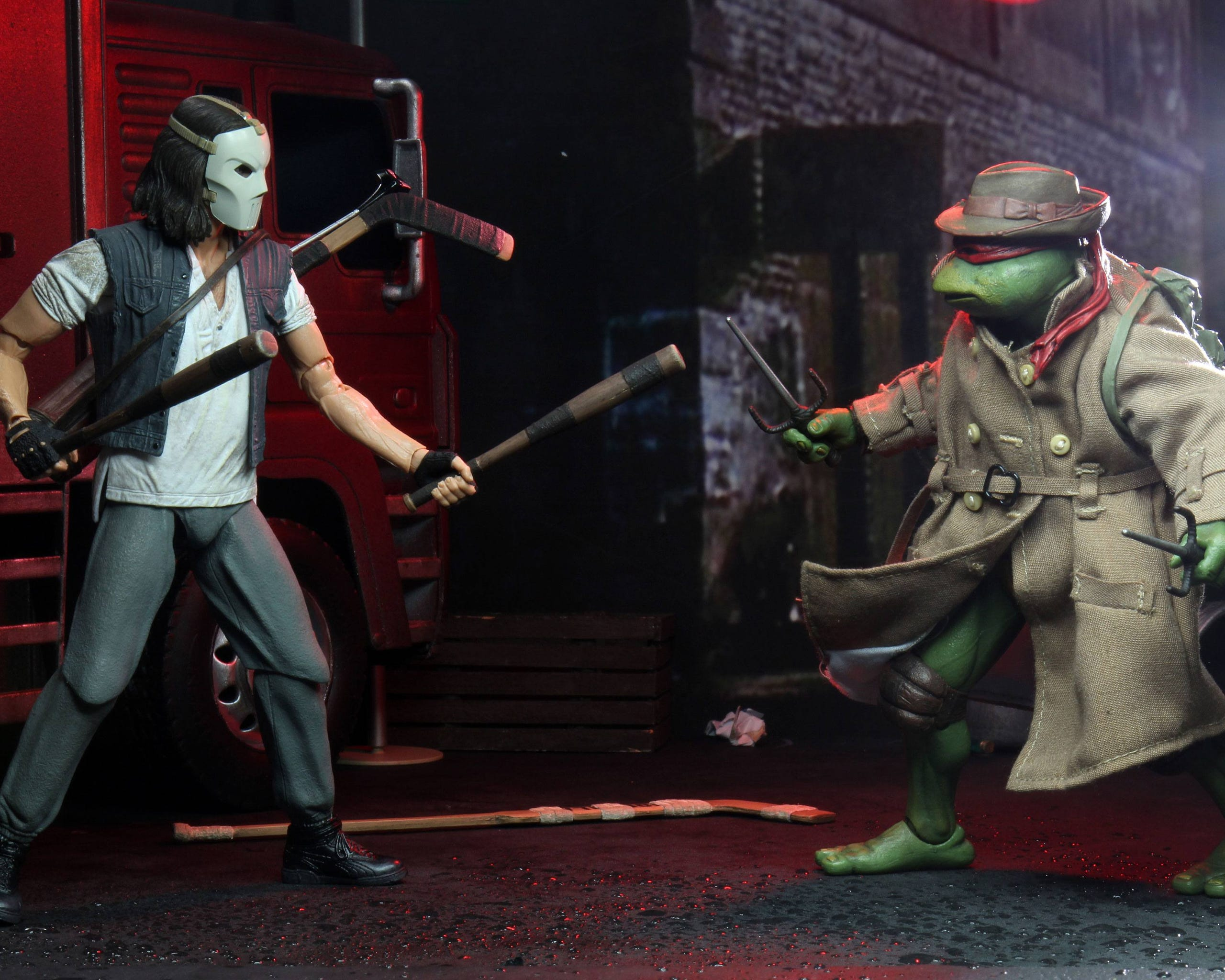 Teenage Mutant Ninja Turtles Actionfiguren Doppelpack Casey Jones & Raphael in Disguise 18 cm  634482541241