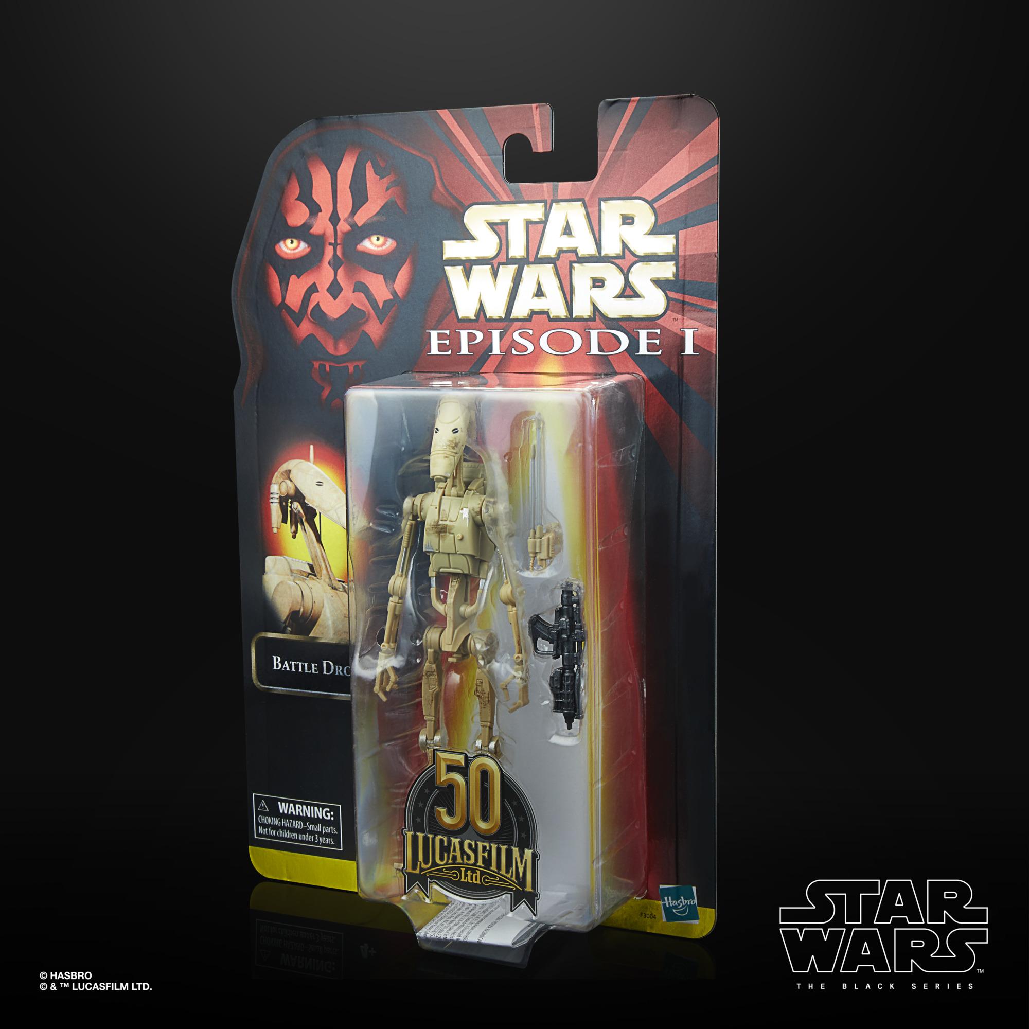 Star Wars The Black Series Battle Droid LUCASFILM 50TH ANNIVERSARY FIGURE F30045L00  5010993872404