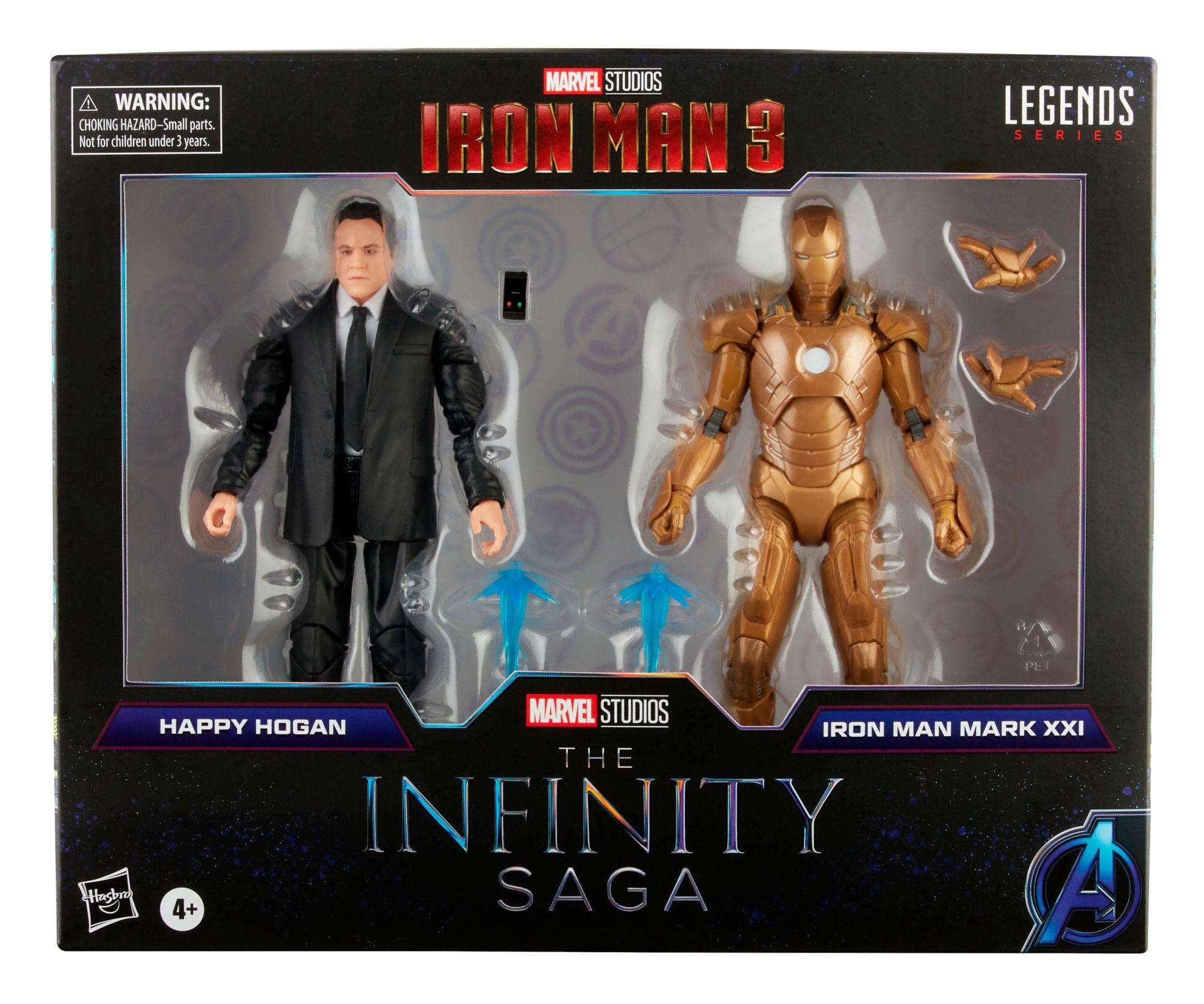 The Infinity Saga Marvel Legends Actionfiguren 2-Pack 2021 Happy Hogan & Iron Man (Iron Man 3) 15 cm F01915L00 5010993839674