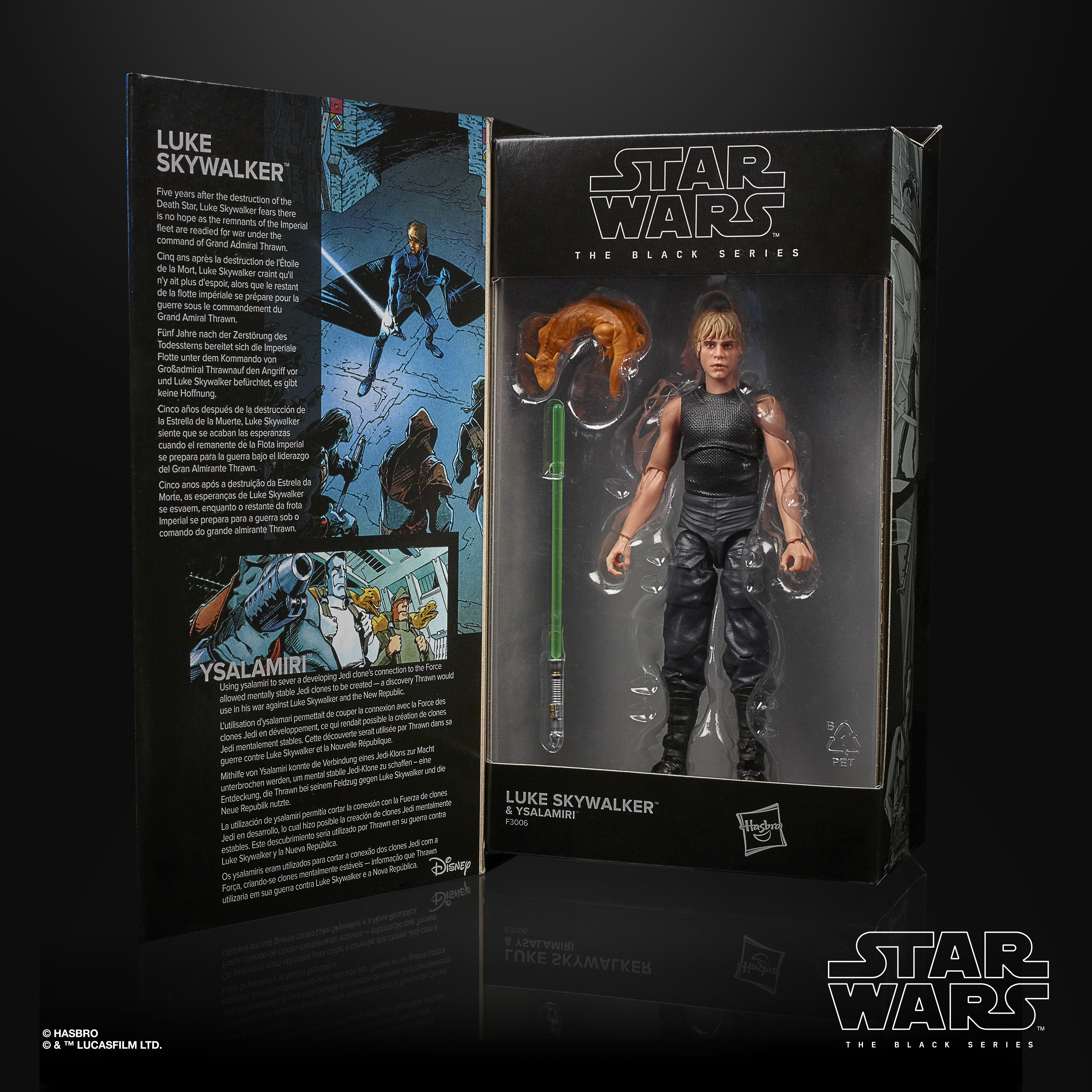Star Wars The Black Series Luke Skywalker & Ysalamiri LUCASFILM 50TH ANNIVERSARY FIGURE F30065L00 5010993872817