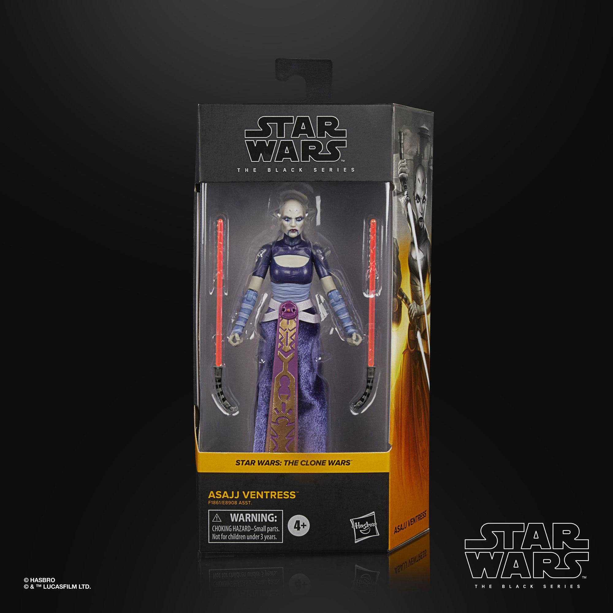 Star Wars The Black Series Asajj Ventress (The Clone Wars) 15cm Actionfigur  F1861 5010993813391