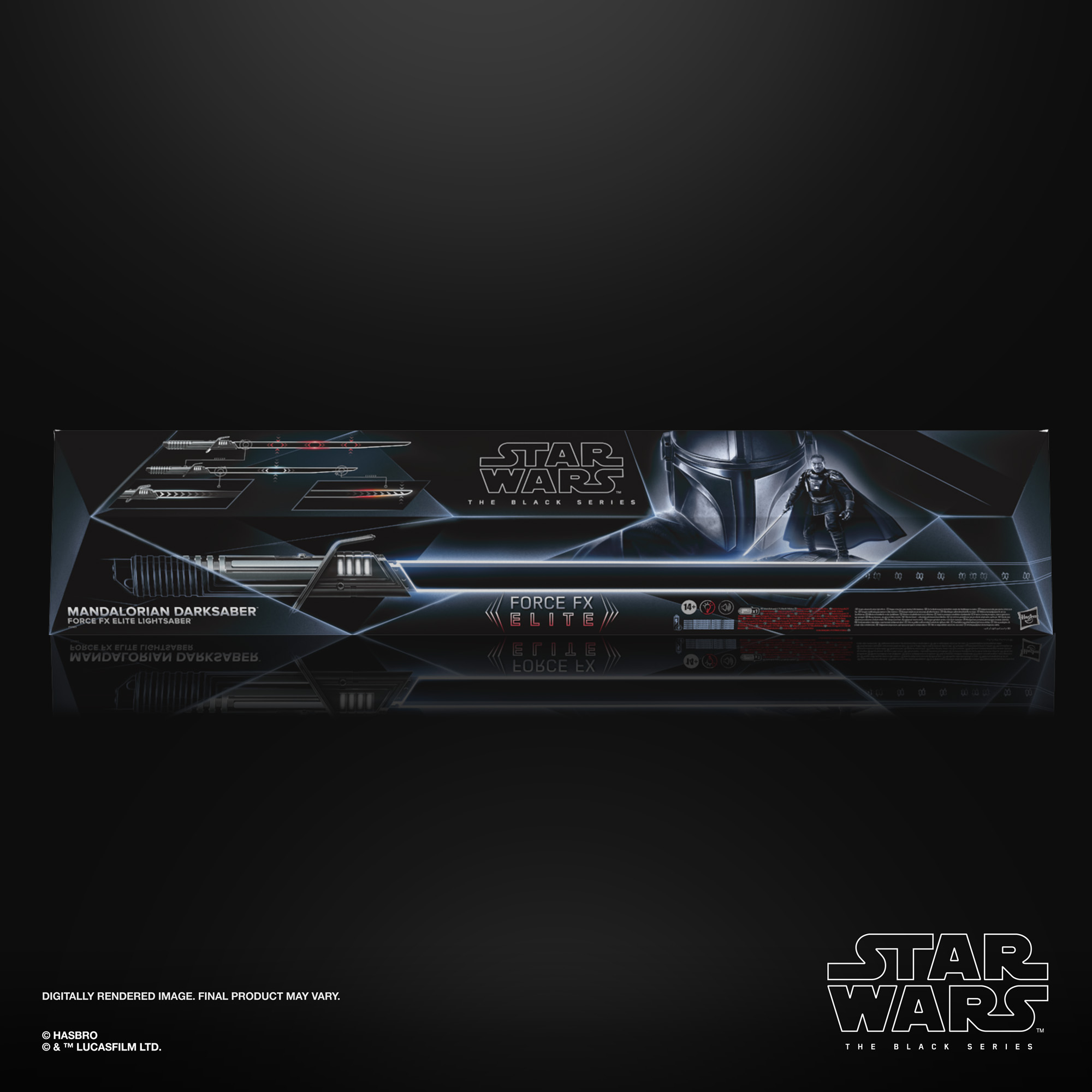 Star Wars The Black Series Mandalorian Darksaber Force FX Elite Lightsaber F12695L00 5010993802227