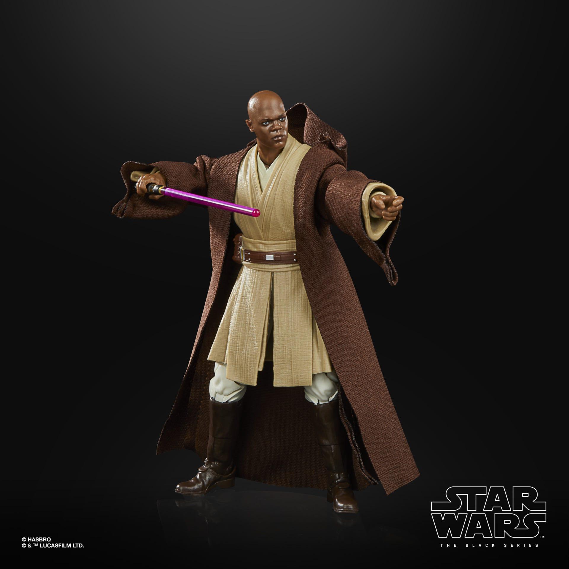 Star Wars The Black Series Mace Windu LUCASFILM 50TH ANNIVERSARY FIGUR F27325L00 5010993866168