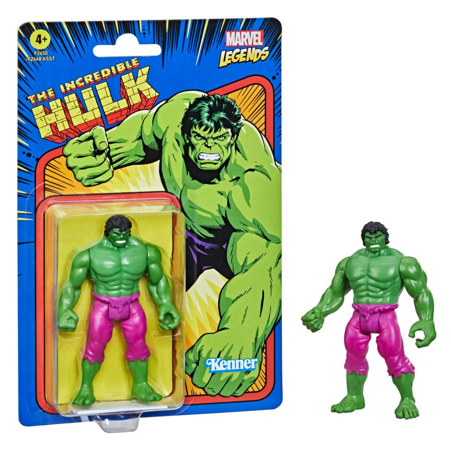 Marvel Legends 3.75-inch Retro 375 Collection The Incredible Hulk F2650 5010993842575