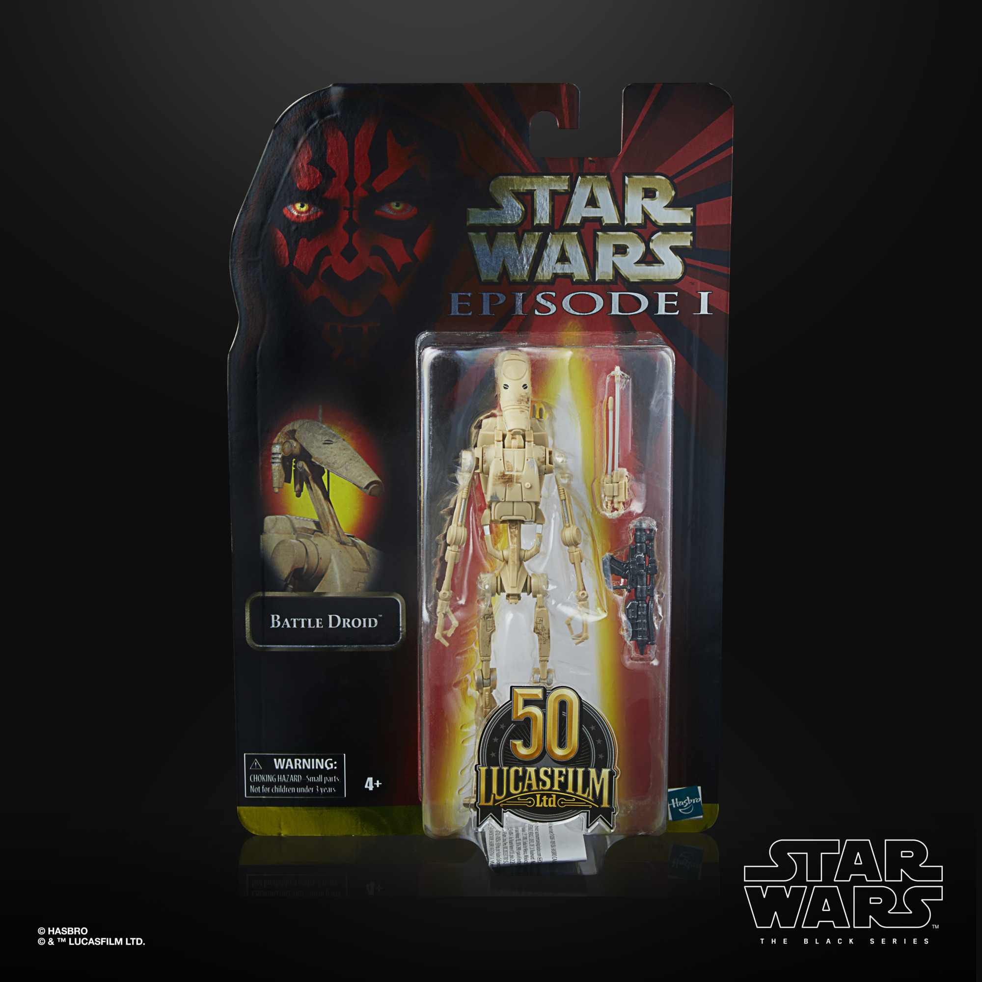 Star Wars The Black Series Battle Droid LUCASFILM 50TH ANNIVERSARY FIGURE F30045L00  5010993872404