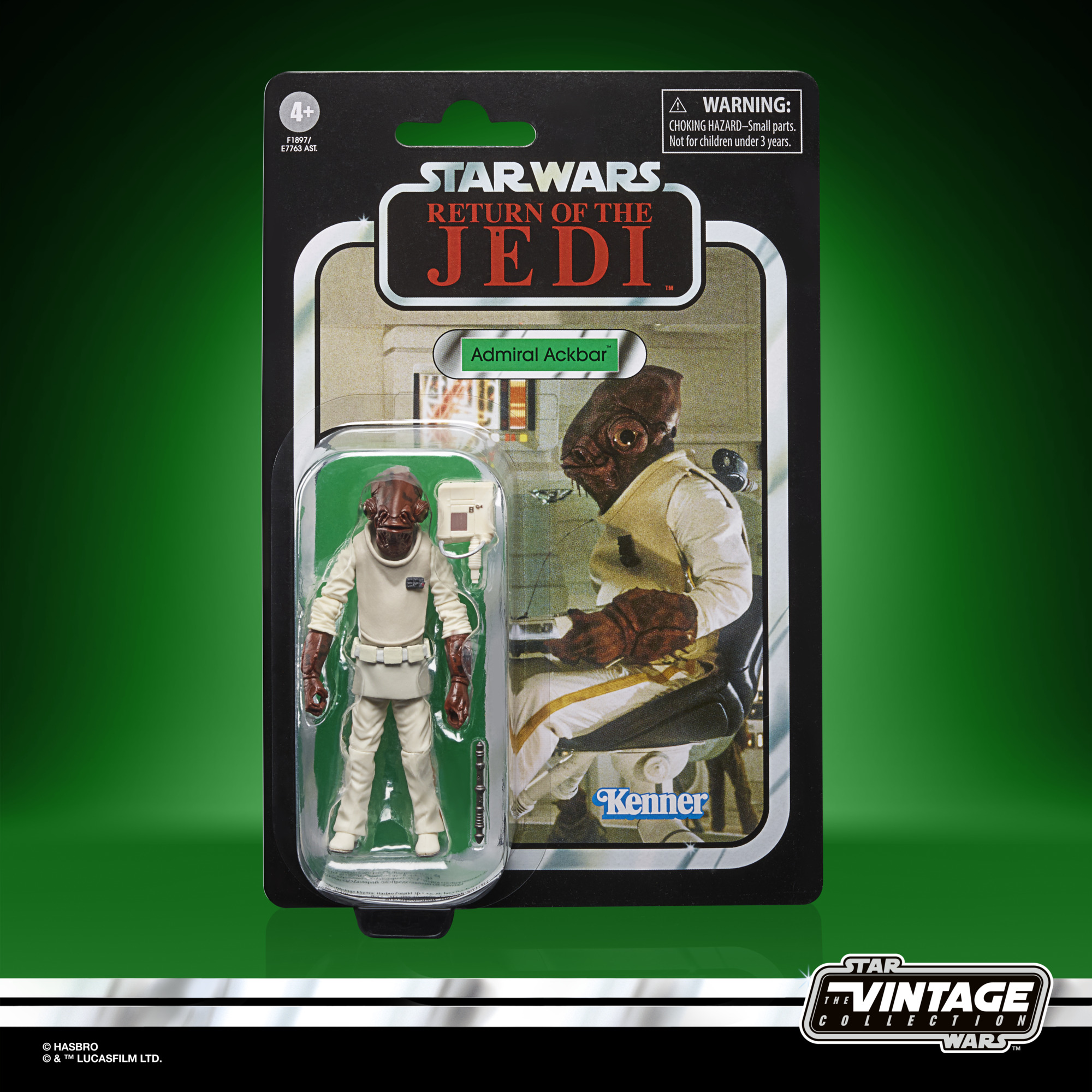 Star Wars The Vintage Collection Admiral Ackbar 3 3/4-Inch Action Figure F1897 5010993860685
