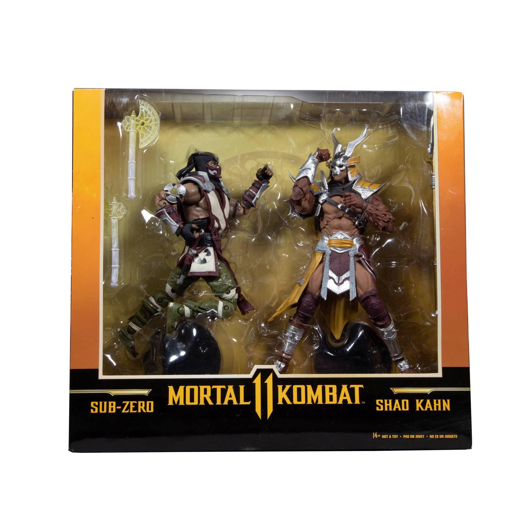 Mortal Kombat Actionfiguren Doppelpack Sub-Zero & Shao Khan 18 cm MCF11054 787926110548