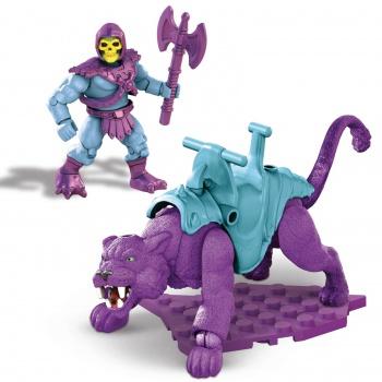 Masters of the Universe Mega Construx Probuilders Bauset Skeletor & Panthor (Flocked) MATTGVY17 887961934649