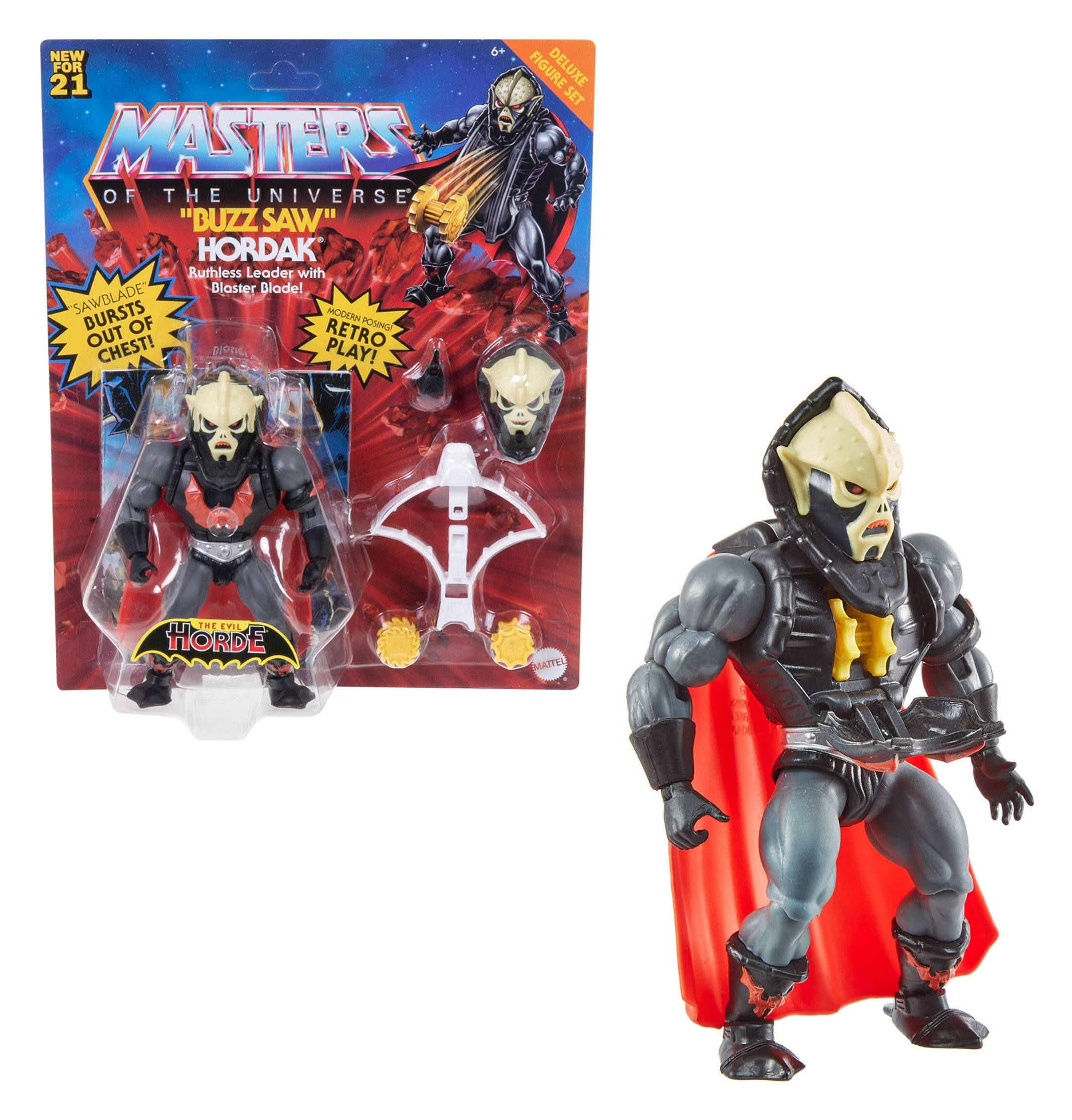 Masters of the Universe Deluxe Actionfigur 2021 Buzz Saw Hordak 14 cm MATTGYY32 0887961982893