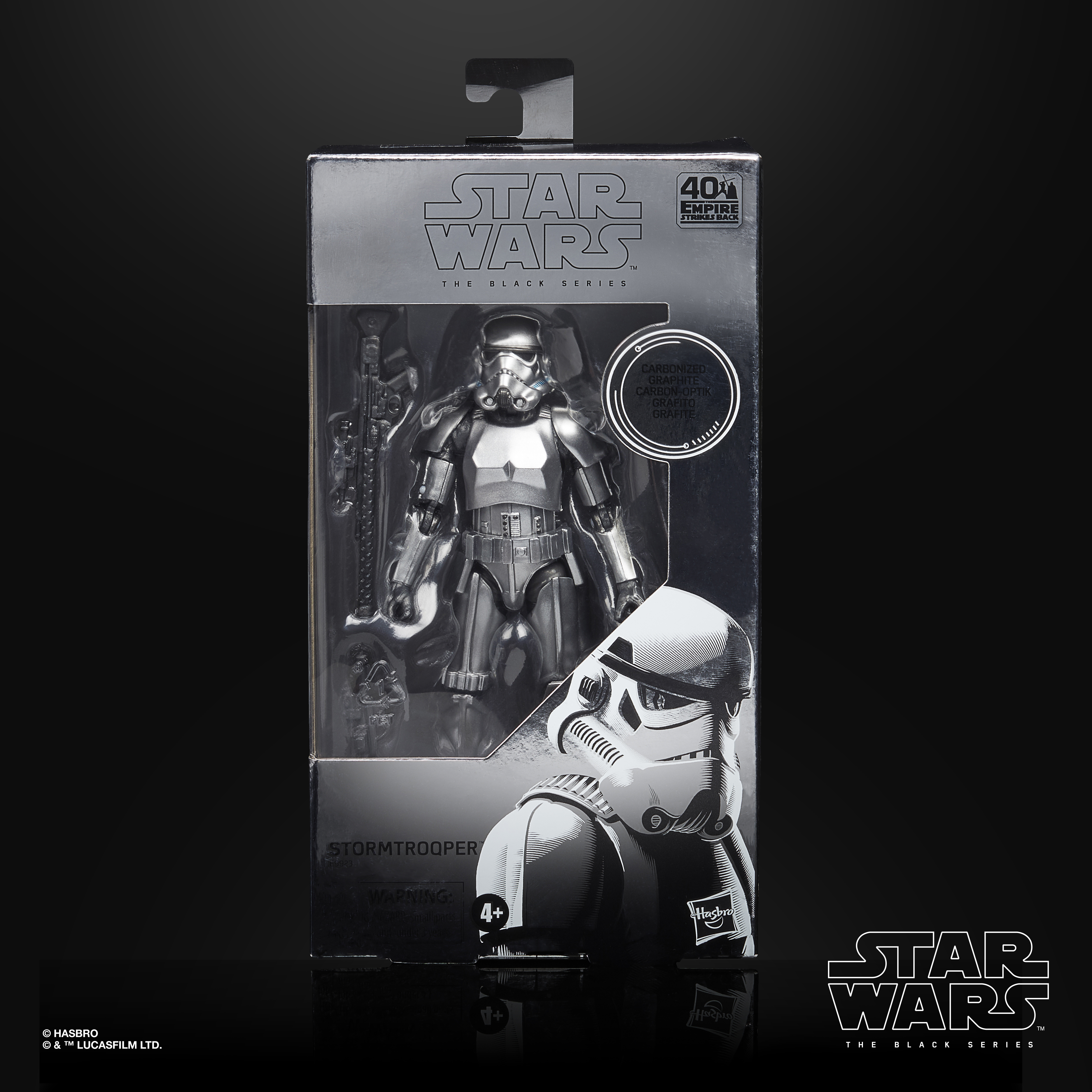 "Star Wars The Black Series Stormtrooper Carbonized Action Figure 6"" Reihe E9923 5010993734474"