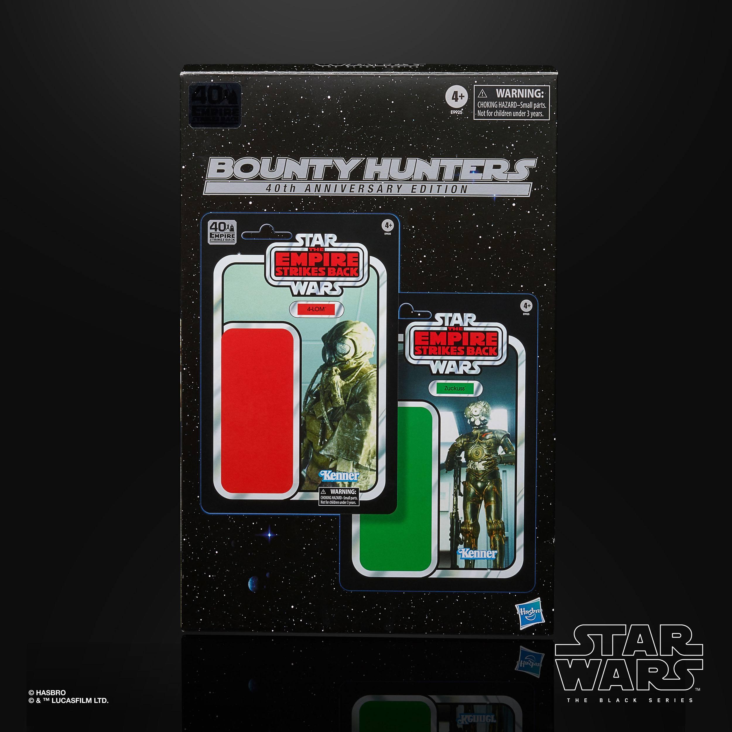 Star Wars Episode V Black Series Actionfiguren 2er-Pack Bounty Hunters 40th Anniversary Edition 15cm HASE9925 5010993743957