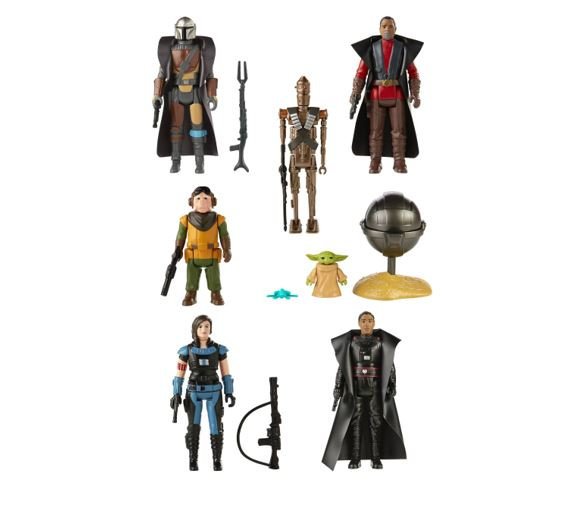 Star Wars The Mandalorian The Retro Collection Action Figures Wave 1 Assortment (7) F09375L00 5010993809295