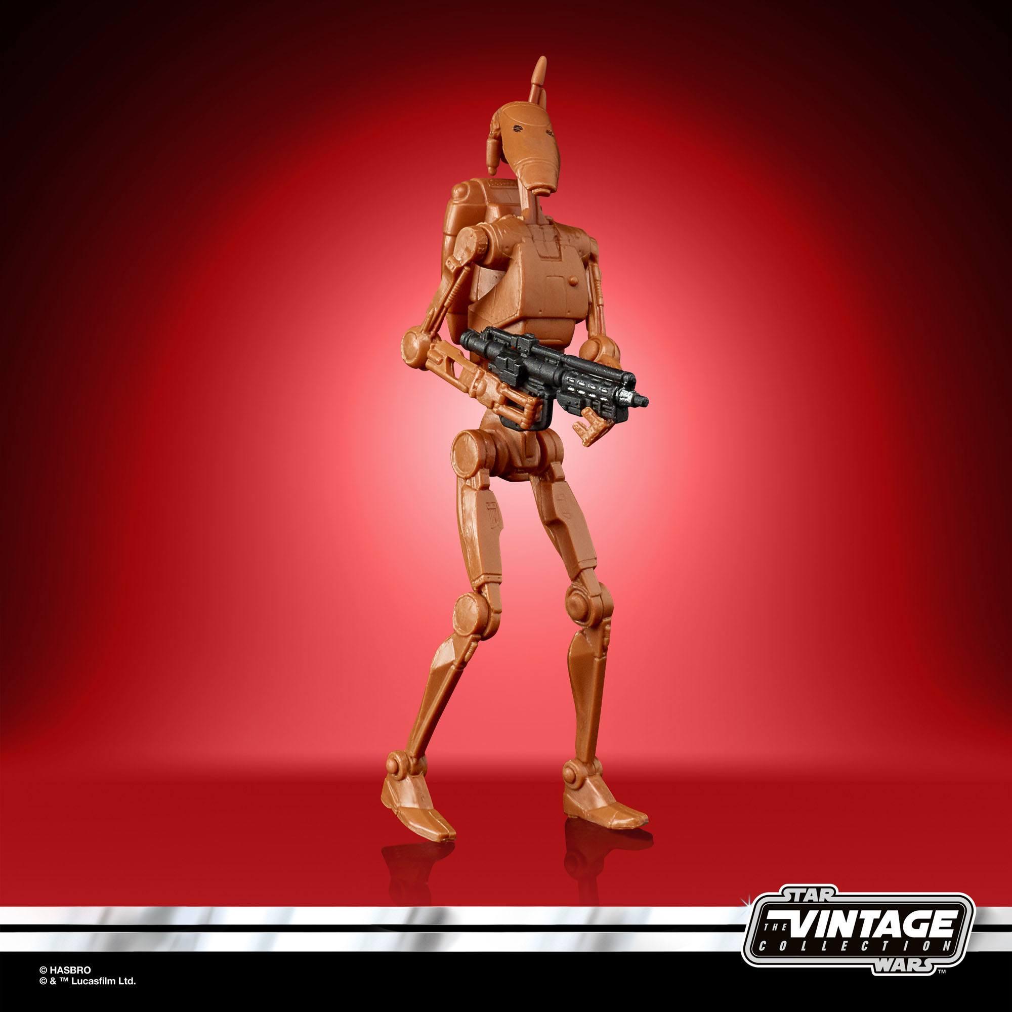Star Wars The Clone Wars Vintage Collection Actionfigur 2022 Battle Droid 10 cm F58655L00 5010993985449