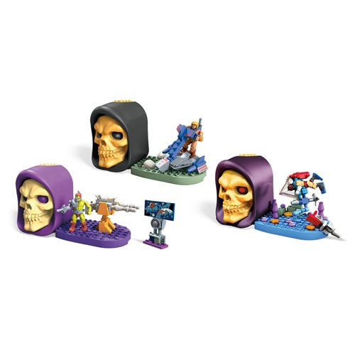 Mega Construx Masters of the Universe Skeletor Skull Case 3er Set (Wave 2)  MTGWJ74B