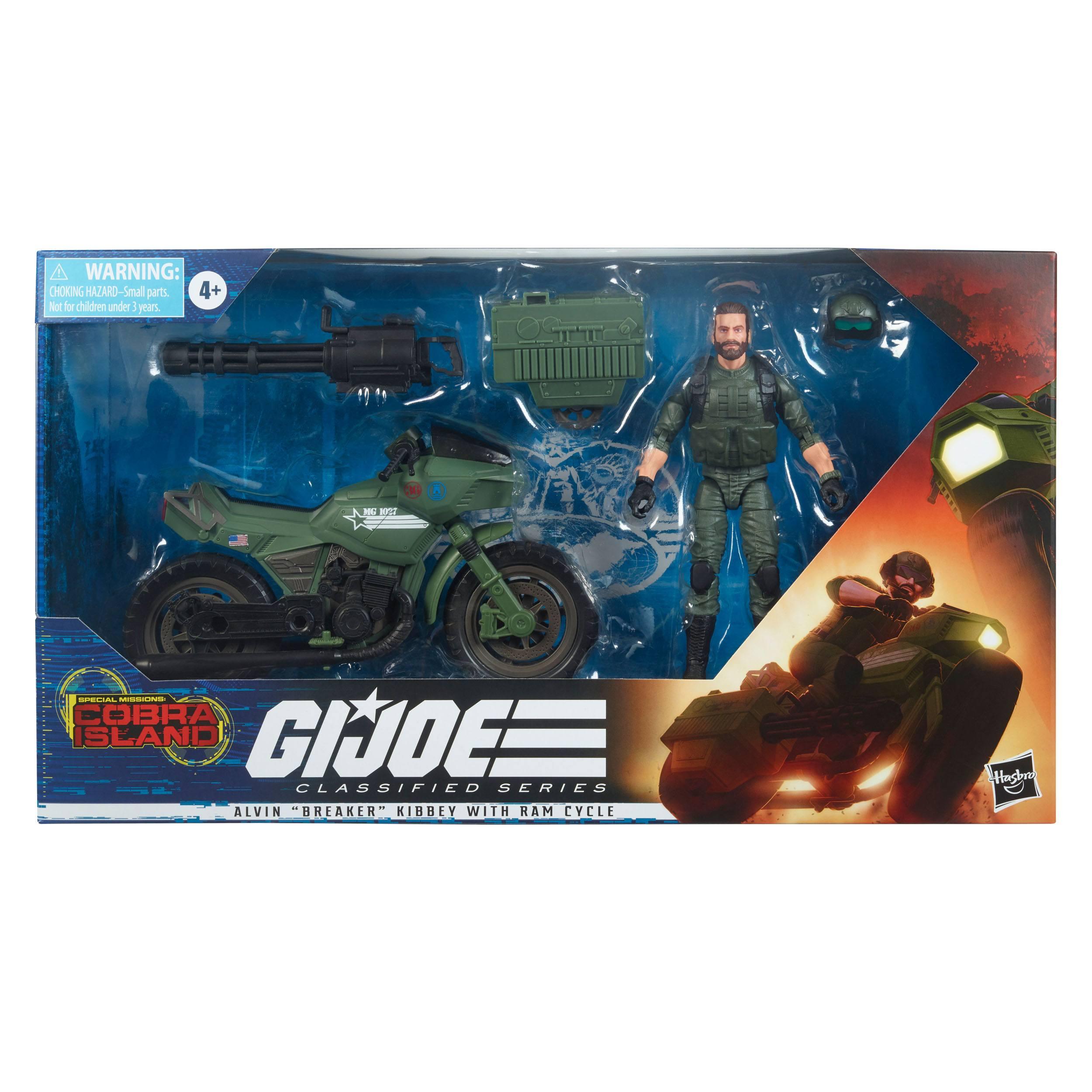 G.I. Joe Classified Series Cobra Island Actionfigur 2021 Alvin Breaker Kibbey with Ram Cycle 15 cm F07625L00 5010993836475
