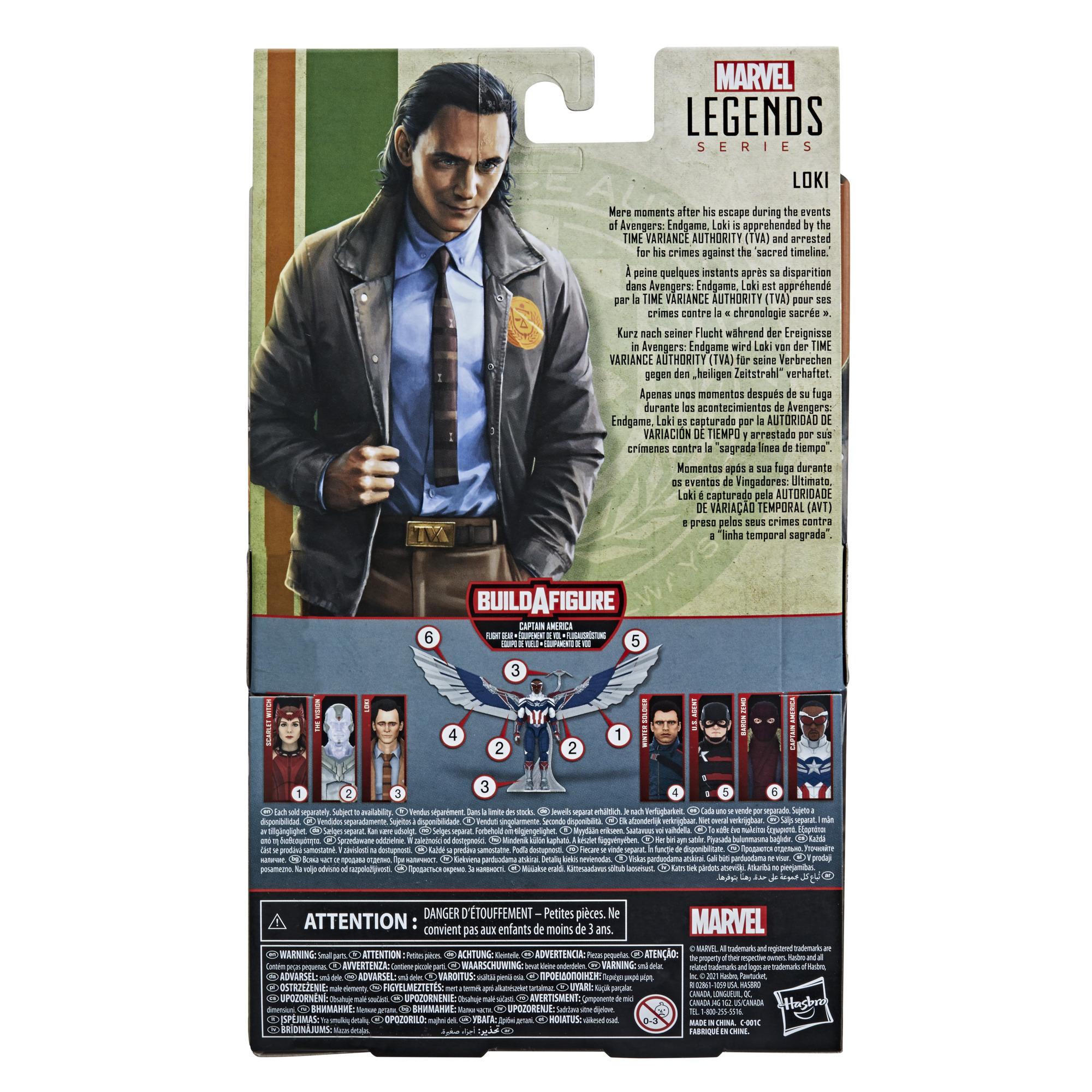 Marvel Legends Series Avengers Loki Build a Figure F0327 5010993790982