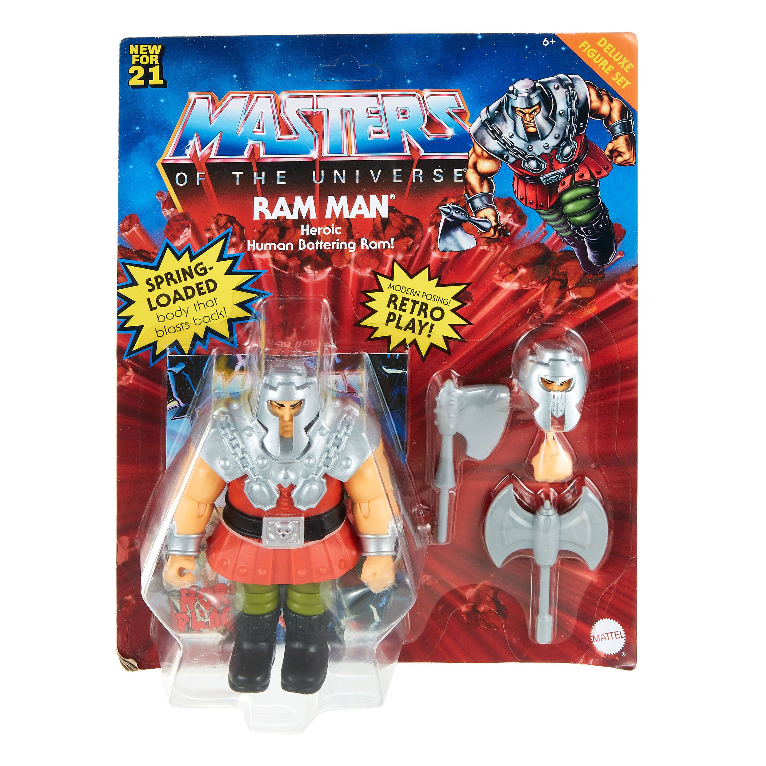 Masters of the Universe Deluxe Actionfigur 2021 Ram Man 14 cm MATTGVL78 887961929645