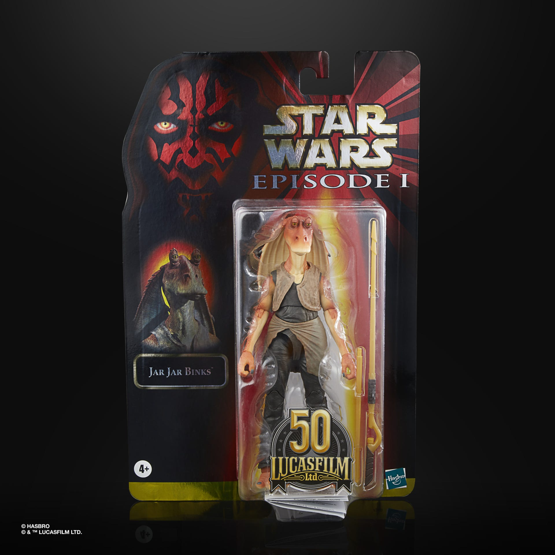 Star Wars The Black Series Jar Jar Binks LUCASFILM 50TH ANNIVERSARY FIGURE F28035L00 5010993866212