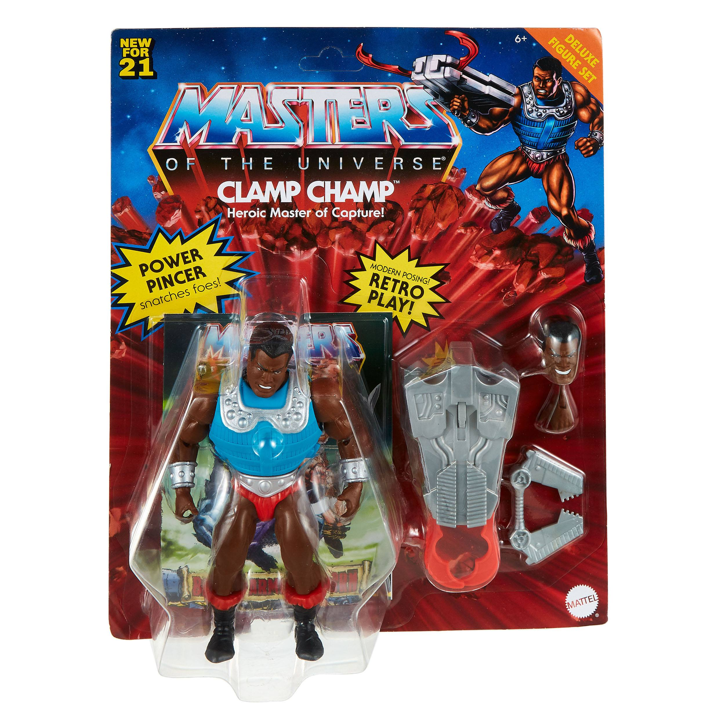 Masters of the Universe Deluxe Actionfigur 2021 Clamp Champ 14 cm MATTGVL79