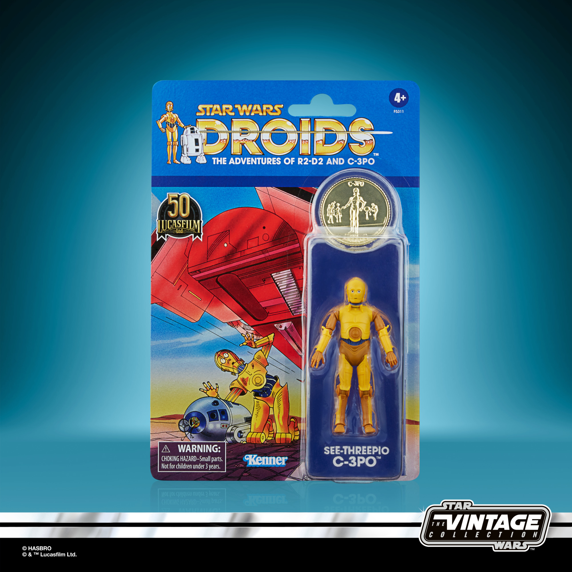 Star Wars: Droids Vintage Collection Actionfigur 2021 See-Threepio (C-3PO) 10 cm F53115L00 5010993953899