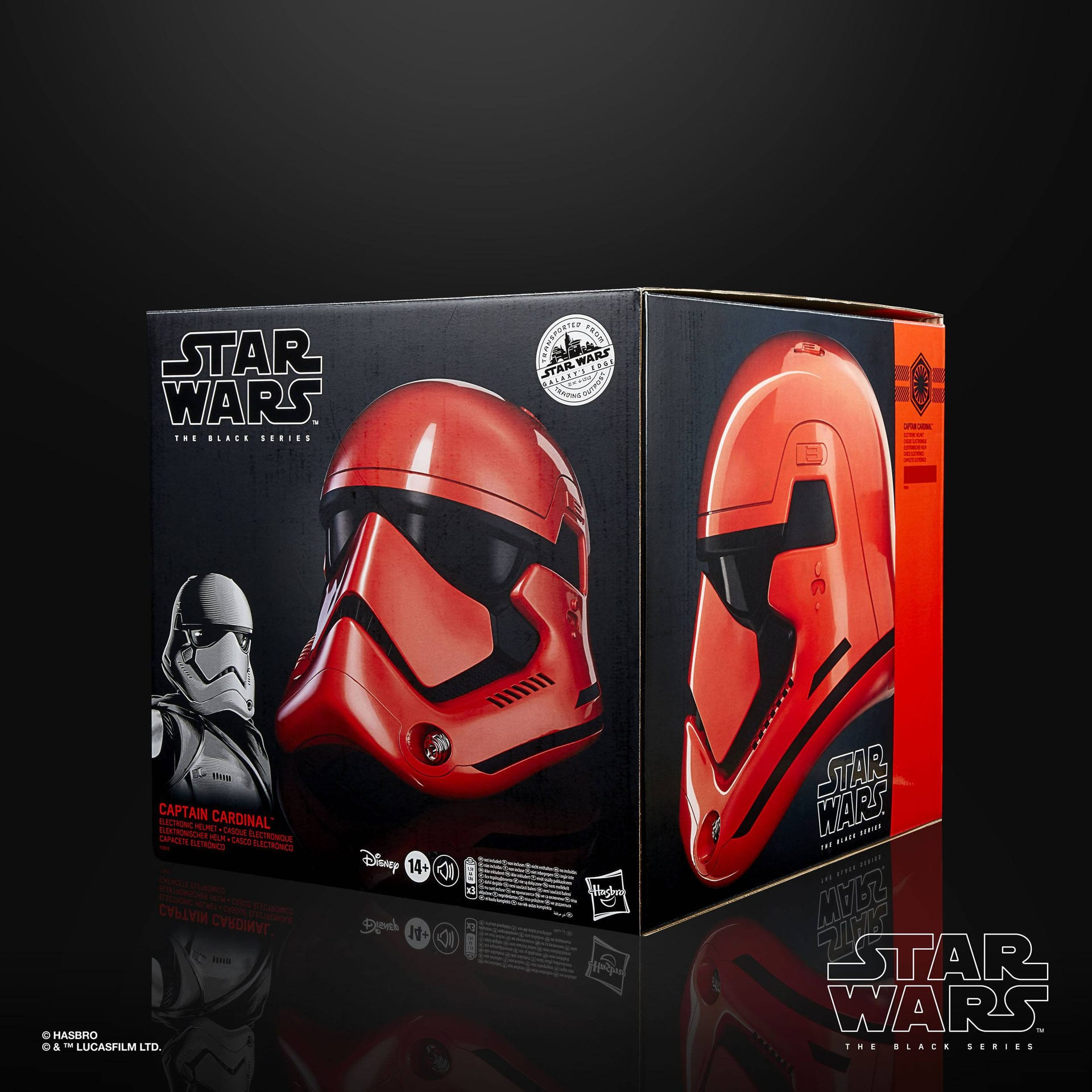 Import Star Wars Galaxy's Edge Black Series Elektronischer Helm Captain Cardinal F0013