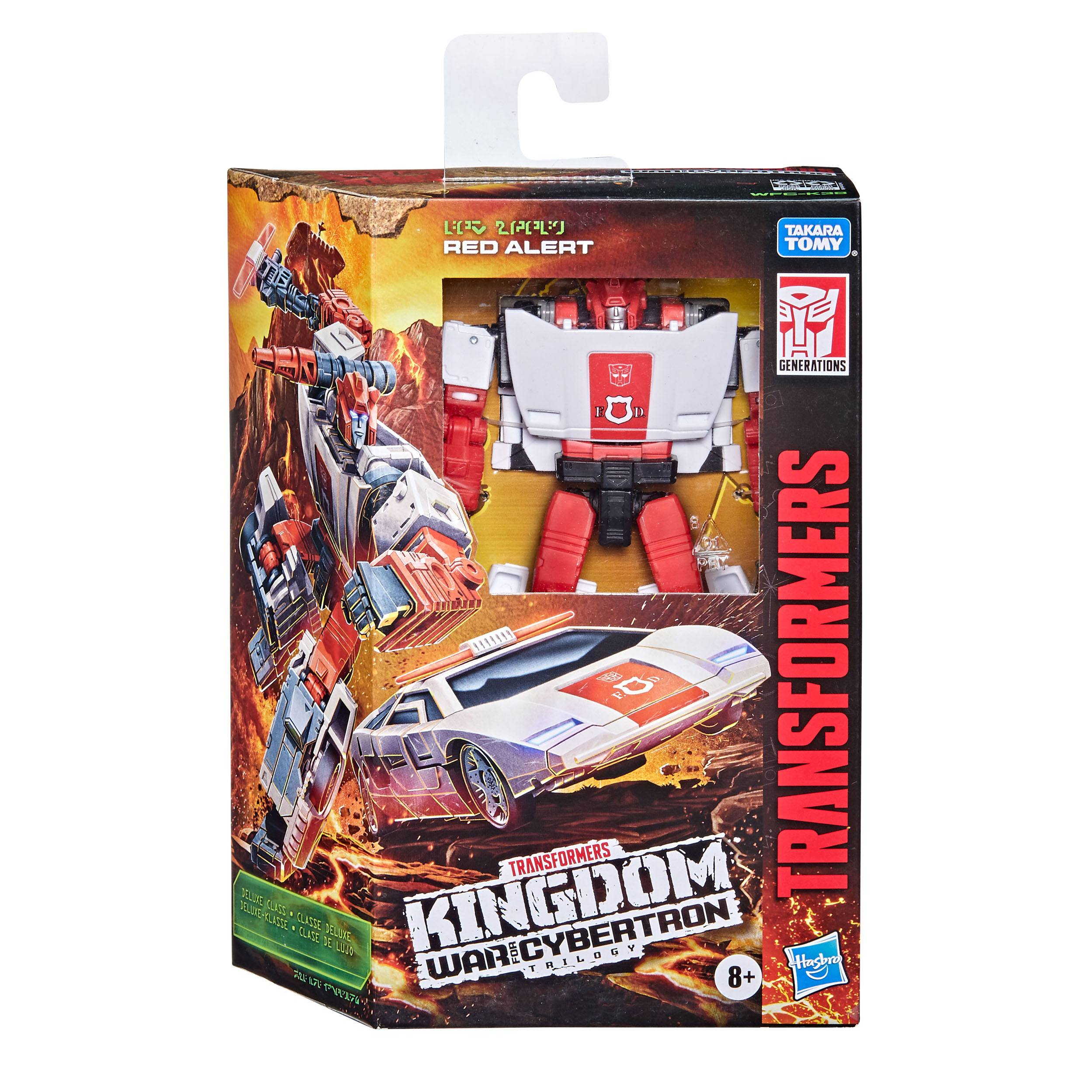 Transformers Generations War For Cybertron: Kingdom Deluxe Class Actionfigur 2021 Red Alert 14 cm HASF1625 5010993855070