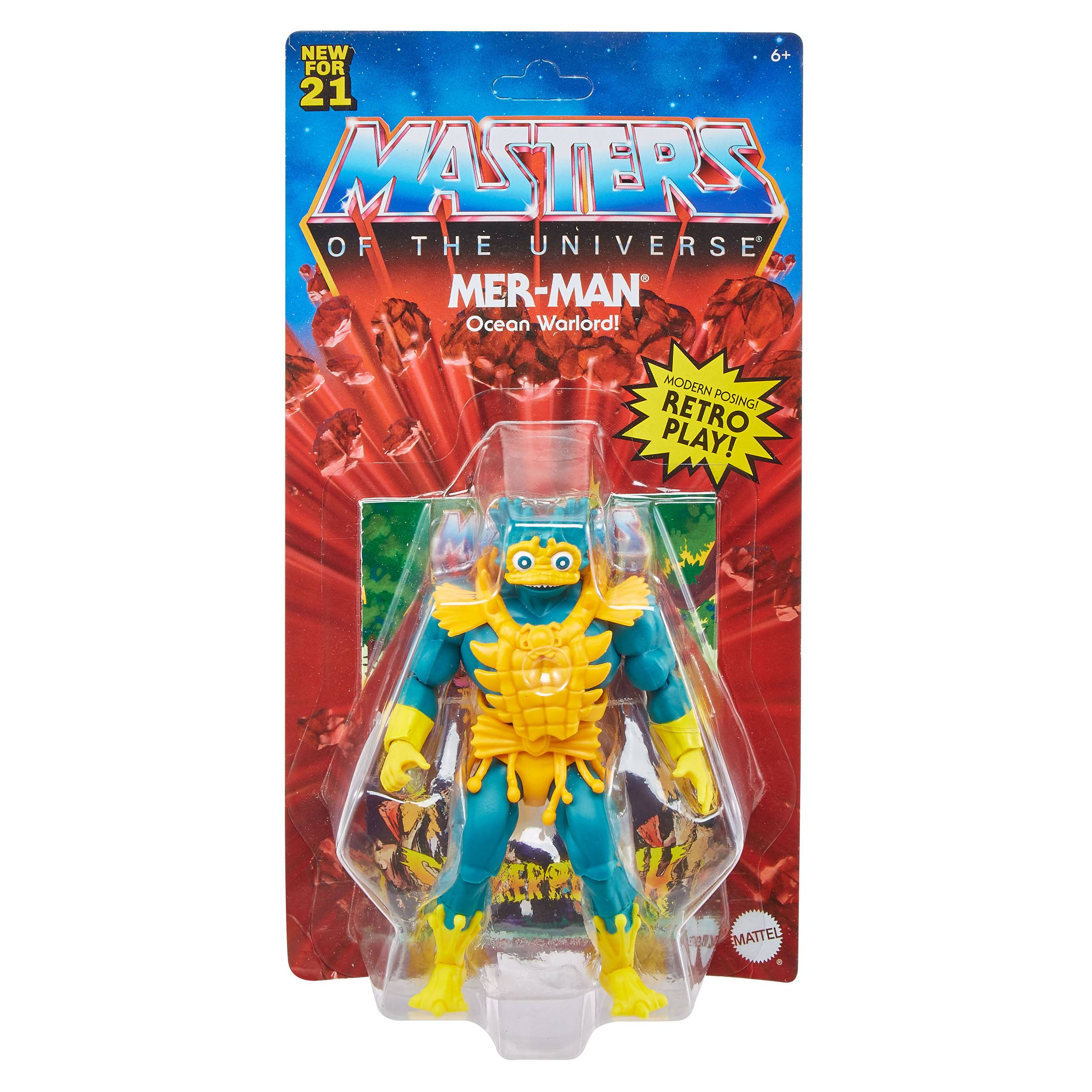Masters of the Universe Origins Actionfigur 2021 Lords of Power Mer-Man 14 cm GYY23 0887961982916